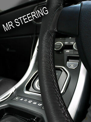 Steering Wheel Cover SS5318 Universal Fit In Black Sporty Faux Leather Slip on