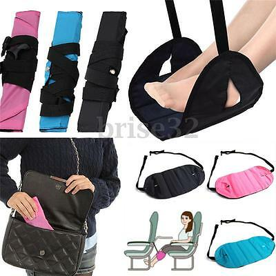 Portable Folding Travel Foot Rest Carry-on Relax Pillow Flight Seat Footrest