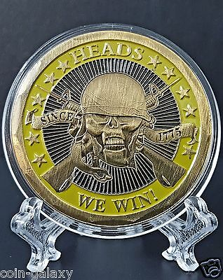 """HEAD or TAILS COIN *2016* """"TAILS YOU LOSE"""" """"HEADS WE WIN!"""" 24k Gold Clad Round"""
