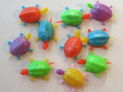 1960's VINTAGE Plastic BOBBLE HEAD TURTLE Gumball Toy Prize Charm Lot