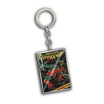Genuine Marvel Comics Close Up 'Spiderman' Metal Keyring Fob Key Ring Ideal Gift