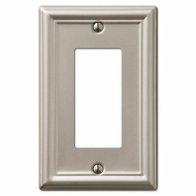 Decorative Wall Switch Outlet Cover Plates Brushed Nickel, Rocker GFCI