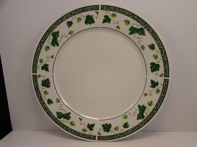 """Ivy Charm 8854 by Sango 12-1/4"""" Round Chop Plate Green Band And Ivy"""