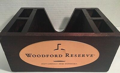 Advertising Collectibles Distillery Bourbon Woodford Reserve WOODEN BAR CADDY