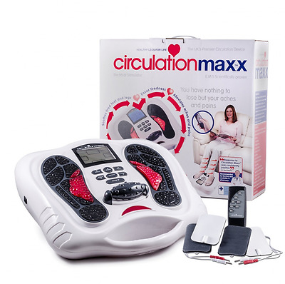 Blood Booster Foot Massager Medical Device Pain Tension Relief w/ Remote Control