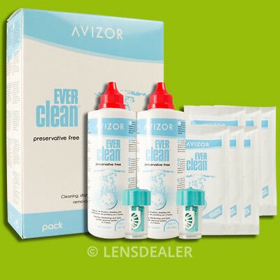 » AVIZOR EVER CLEAN 90 TAGE 2x 350 ML PEROXIDLÖSUNG +90 TABLETTEN KONTAKTLINSEN«
