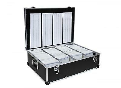 Neo Aluminium Black 1000 Cd/dvd/blue Ray Disc Carry Flight Storage Case