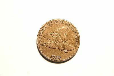 1858 Flying Eagle Cent Penny, US Coin ,  XF, Better Date!