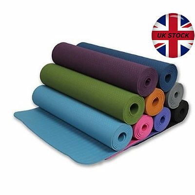 10mm TPE ECOFRIENDLY CHEAP YOGA/PILATES MATS NON SLIP FITNESS WORKOUT EXERCISE