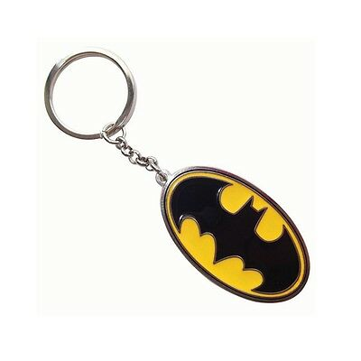 Genuine DC Comics 'Batman' Logo Metal and Enamel Keyring Fob Key Ring Ideal Gift
