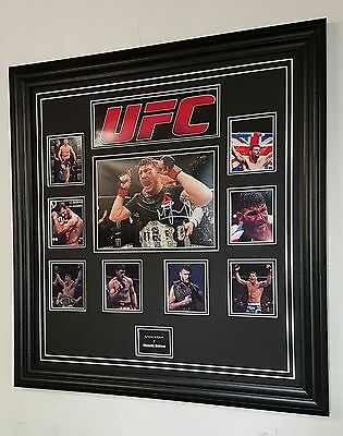 * RARE Michael Bisping SIGNED PHOTO PICTURE Autograph Display *