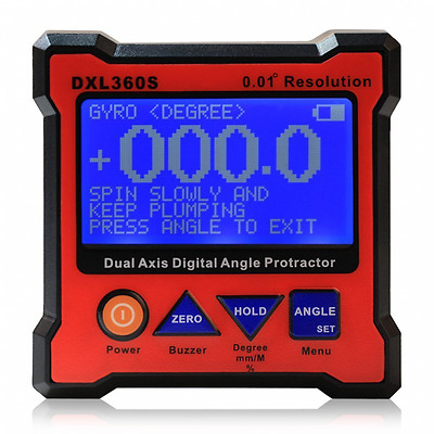 Floureon Axis Level Box Inclinometer Dual Axis Digital Angle Protractor with 5 S