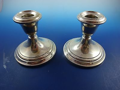 Pair of Vintage Weighted Sterling Silver Candlestick Holders by Gorham