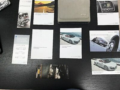 Audi R8 Spyder 2012 Owners Manual Books W/ Navigation And  Case Oem. Free Shp