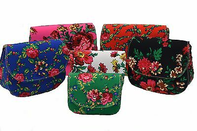 Beautiful Fashion Womens Handbag Flowers Magnetic Closure 4 Sizes