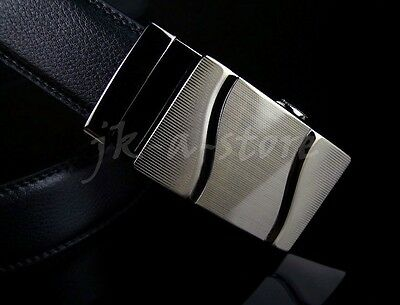 NEW Fashion Genuine Leather Mens Metal Alloy Automatic Buckle Waist Strap Belts