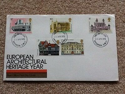 FDC - G.B. 1975 European Architectural Heritage Year - First Day Cover