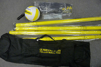 Park & Sun Spiker Sport Steel Volleyball Set, Yellow--Missing tension ropes