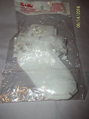 Ruffle Lace Girls  Pageant and Wedding Socks - White - Sizes: S - Brand New