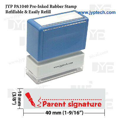 Teacher stamp JYP PA1040 Pre-Inked Rubber Stamp w. Parent signature