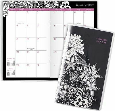 At-A-Glance 2017 - 2018 FloraDoodle 2-Year Monthly Pocket Planner (189-021_17) -