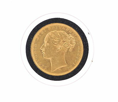 1878 Gold Victoria Young Head Sovereign Coin Great Britain In Coin Case