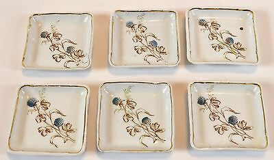 Set of 6 Ironstone Butter Pats - Edwards Brothers - unmarked