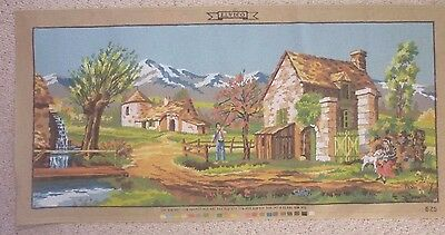 Large Tapestry  Elvico Unworked Canvas - Stunning Country Scene - No Wools