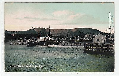DOCKS, BURNTISLAND: Fife postcard (C25448)