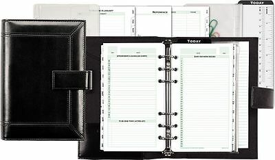 Sophisticated Vinyl Binder 2 Page Per Day Set Portable Size - Planner