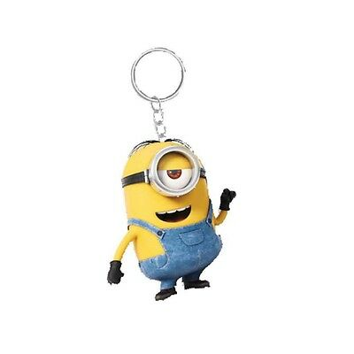 Genuine Despicable Me Minions 'Stuart' Banana Scented 3D Keyring Fob Key Ring