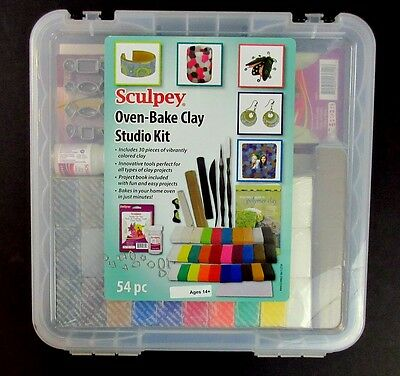 Sculpey Oven Bake Clay Studio Kit Tools NEW