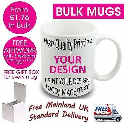 Custom Personalised Business Photo Image Text Mug Mugs Coffee Tea Promotional