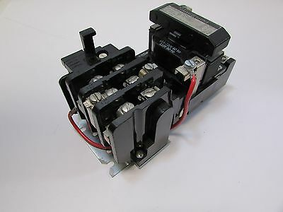 Ge Cr306C0**laa Size 1 Motor Starter 3 Pole Coil 120 Volts Tetsed