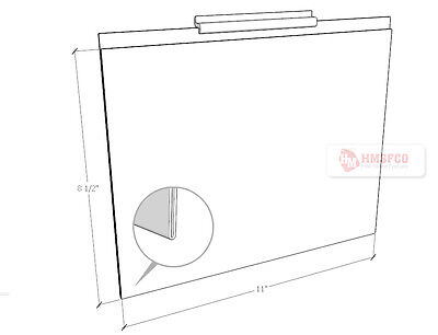 Acrylic Marketing Sign Holder Display for Slatwall 11 X 8.5(H) - 3 PCS (008CL)