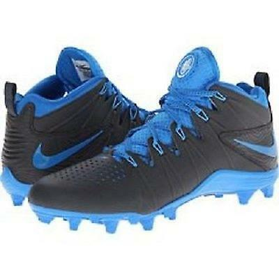 Nike Huarache 4 LAX Td Lacrosse Football Cleats Various Sizes  Anthracite / Blue