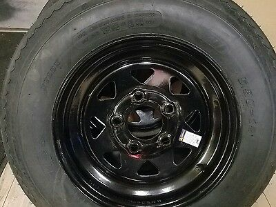 New 530X12  C Ply High Speed Trailer Tire & Wheel Assembly 5 Hole- Lowest $