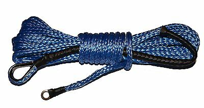 "30' ft x 1/4"" ATV Dyneema Synthetic Wich Rope/Cable - Blue"