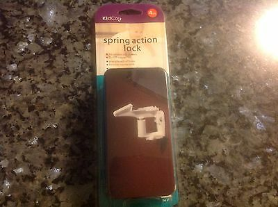NEW 4-pack of KidCo Spring Action Cabinet Locks  Item # S337