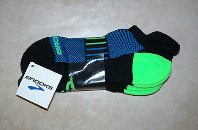 Brooks Running Athletic Unisex Socks 3 Pair / Size Medium 9-11