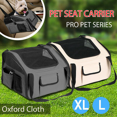 Oxford Pet Carrier Dog Cat Car Booster Seat Portable Soft Travel Crates Large