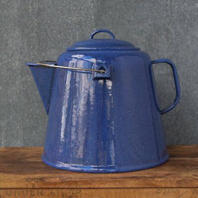 Falcon enamel jumbo tea pot, 4.5 litre, blue