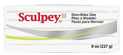 SCULPEY III - Polymer Clay - 227 gm BLOCK - WHITE
