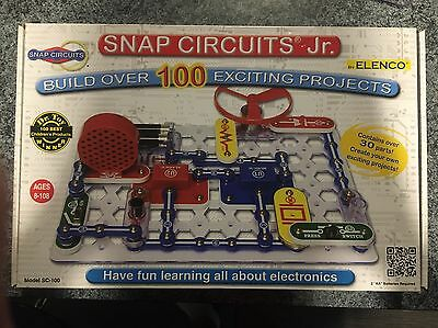Snap Circuits Jr. SC-100 Electronics Discovery Kit (instructions,original box)