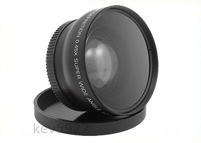 37mm Digital High Definition 0.45X Super Wide Angle Lens & Macro for Camera
