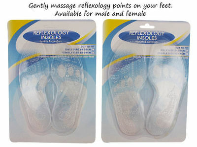 soft dimple reflexology insoles mens shoe inserts buy one get one free