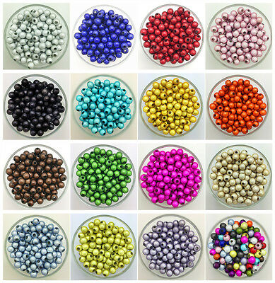 NEW 4mm 6mm 8mm 3D Acrylic Round Pearl Spacer Loose Dream Beads Jewelry Making C