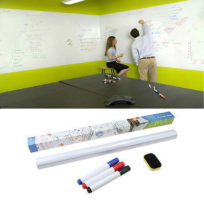 3 Color Removable WhiteBoard Wall Paper Sticker Dry Erase Office Vinyl Decal