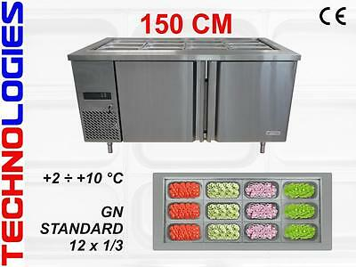 Refrigerated Salad Table Fridge Bar Pizza Kebab Catering 150Cm - New In Stock !