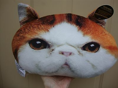 expressions Plush Exotic ShortHair Cat Pillow NWT
